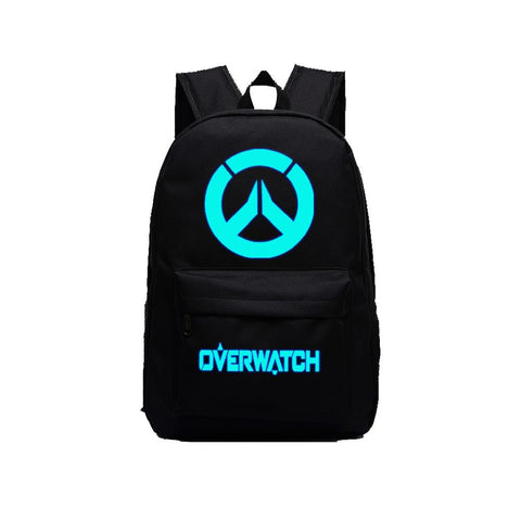 "Game Overwatch 17"" Canvas Luminous Bag Backpack"