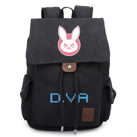 Game Overwatch Casual Canvas Backpack