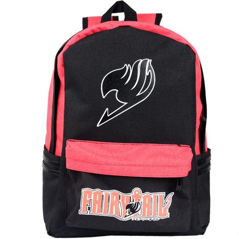Anime Comics Fairy Tail Canvas Backpack