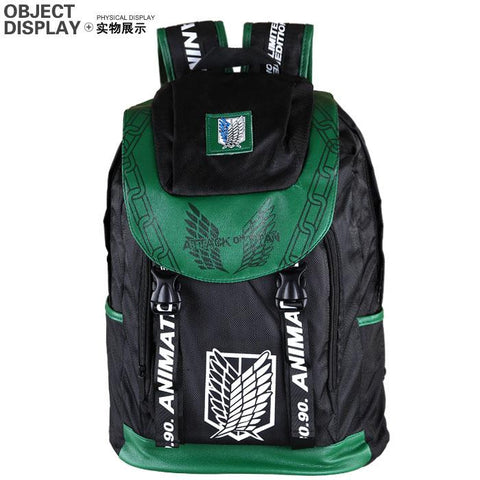 Anime Comics Attack On Titan Daypack Backpack