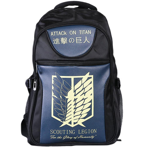 Anime Comics Attack On Titan Teens Backpack