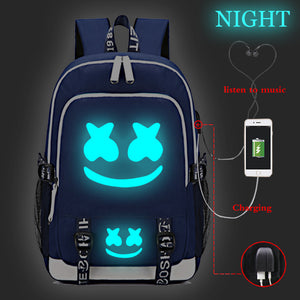 USB Charging Marshmello Backpack