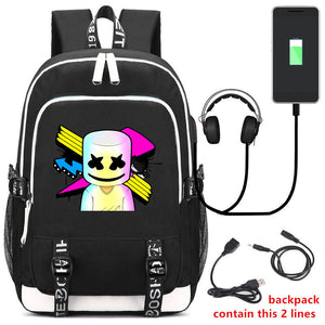 DJ Marshmello Travel School  Backpack