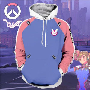 Overwatch DVA Zip Up Hoodie Cosplay Costume OTS580