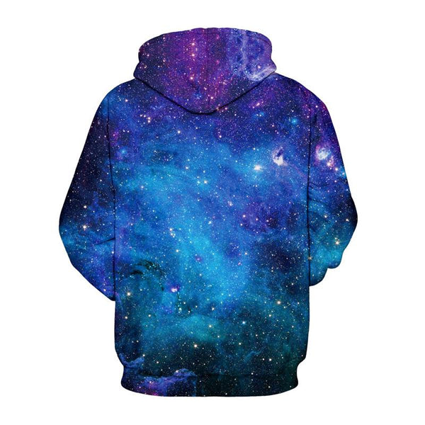 3D Digital Print Hoodie - Unicorn Pattern Pullover Hooded Sweatshirt  OTSO037