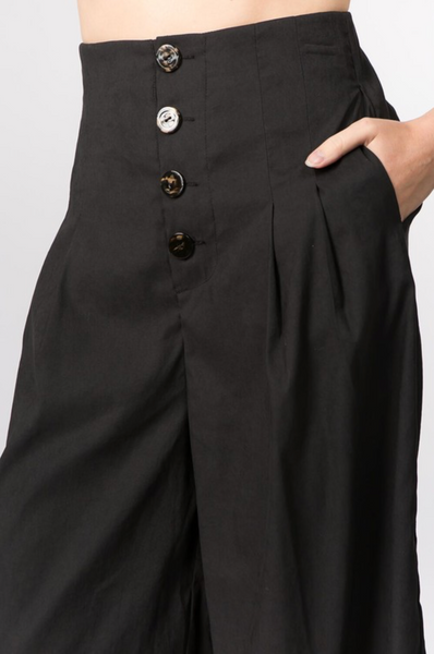 Pleated Gaucho Pants