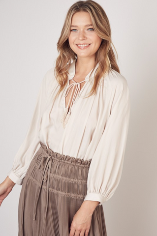 Silky Tassel String Top