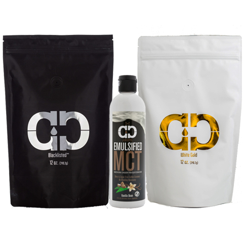 Caveman Kit - 2 Coffee Roasts + Emulsified MCT Oil