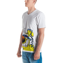 "Load image into Gallery viewer, Grimmy Rocking T-Shirt with ""crank it up"" detail on the back"