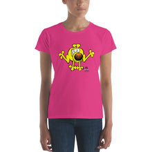 Load image into Gallery viewer, Run Grimmy Run front and back women's short sleeve t-shirt