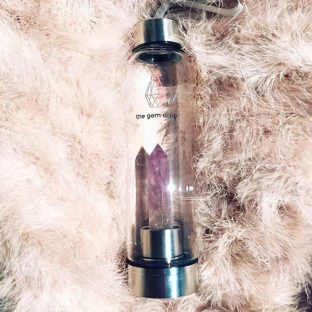 Amethyst Crystal Water Bottle - La Viola e Vittoria