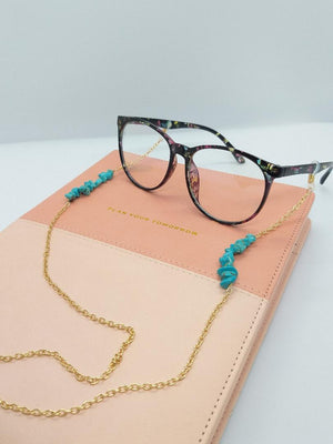 TRANQUILITY TURQUOISE SUNGLASSES CHAIN ✨💎