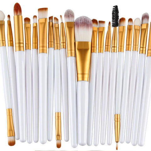 White & Gold Brushes