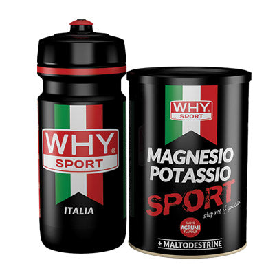 Magnesio Potassio 400g + Borraccia - Why Sport