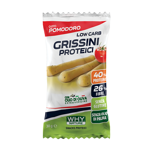 Low Carb Grissini Proteici 30g - Why Nature