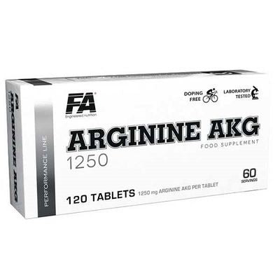 Arginine 1250 Akg 120cpr - FA Fitness Authority