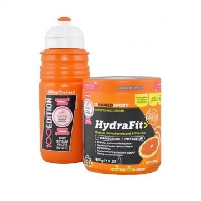 Hydrafit 400g Red Orange + Borraccia - Named Sport