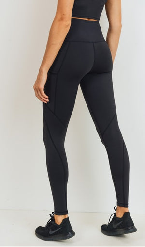 black work-out leggings