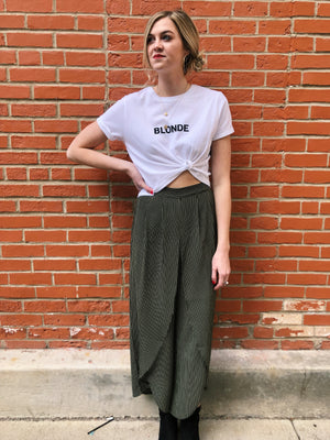 BLONDE Cropped Tee
