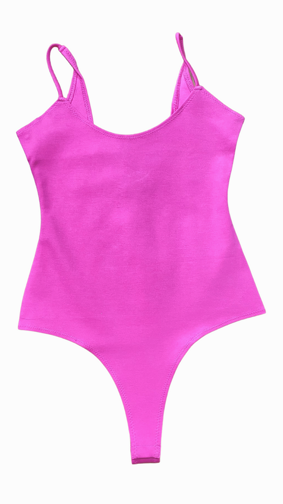 candy pink bodysuit