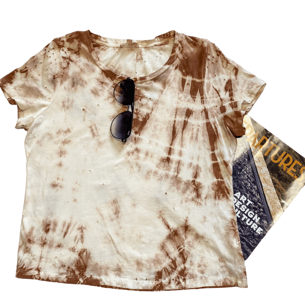 morocco distressed tie-dye tee