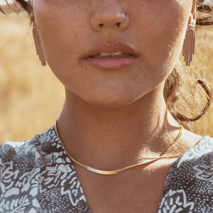 Jolene Gold Snake Necklace Indigo Muse