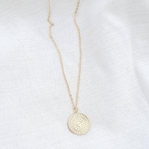 Rosie Coin Necklace Indigo Muse