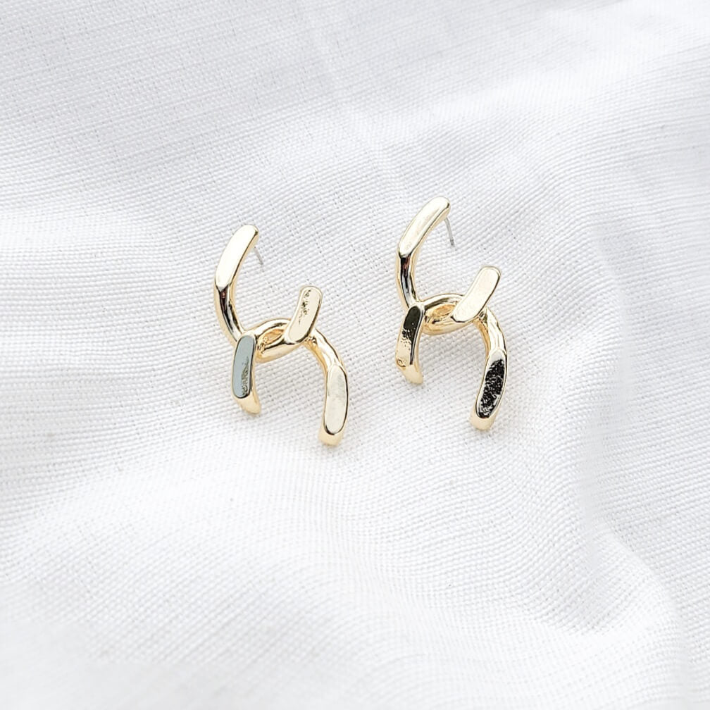 Rory Gold Chain Earrings Indigo Muse