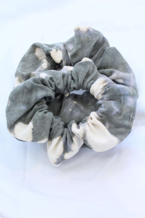 Army Green Bleach Tie Dye Scrunchie