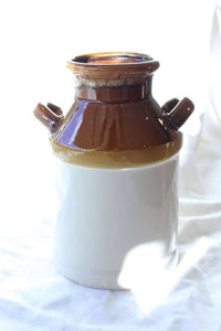 Brown and Cream Ceramic Jug