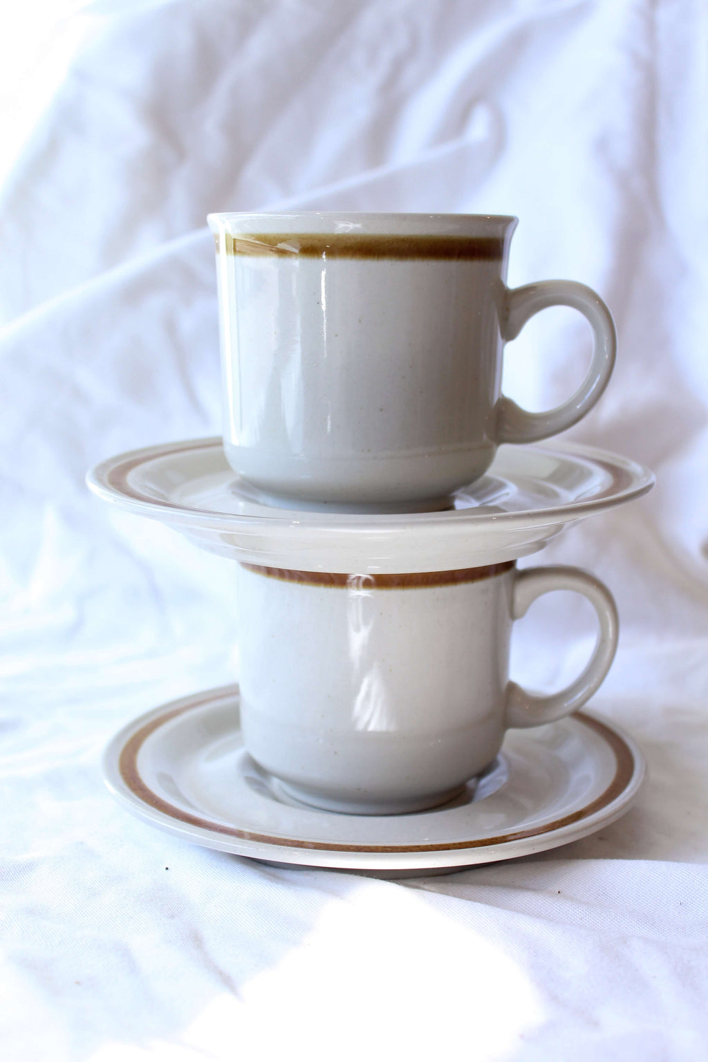 Ceramic Mug and Saucer Set of 2