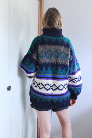 Colourful Cowichan Sweater - elizabeth o. vintage