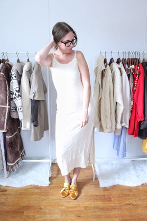 elizabeth o. vintage - Cream Sweater Dress