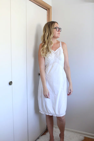 Eyelet Slip Dress/Nightie - elizabeth o. vintage