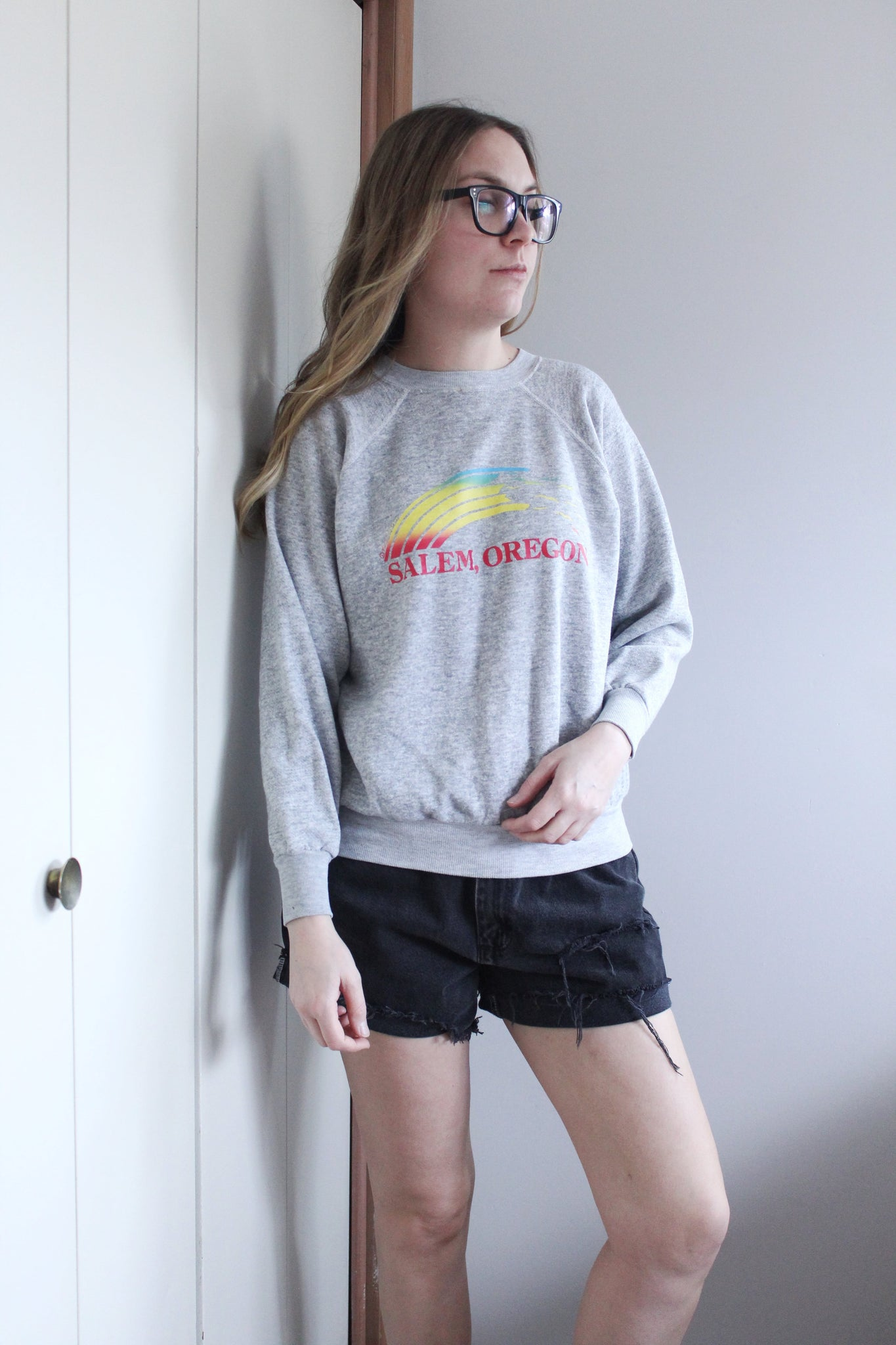 Grey Oregon Sweatshirt - elizabeth o. vintage