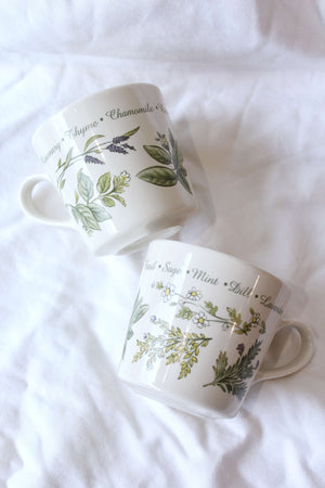 Herb Mugs Set of 2