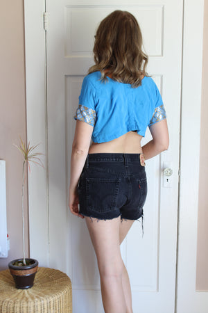 elizabeth o. vintage - Sequined Crop Top