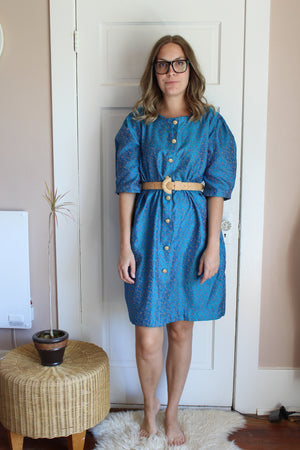 elizabeth o. vintage - Turquoise Shift Dress