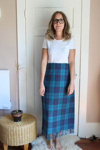 elizabeth o. vintage - Turquoise & Purple Plaid Skirt