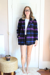 elizabeth o. vintage - Plaid Peacoat