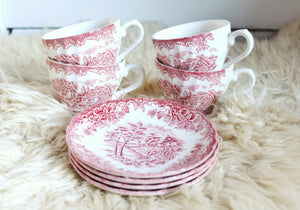 elizabeth o. vintage - Teacup 8 Piece Set