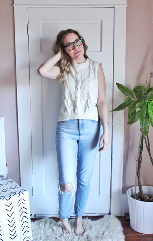 elizabeth o. vintage - Cable Knit Top