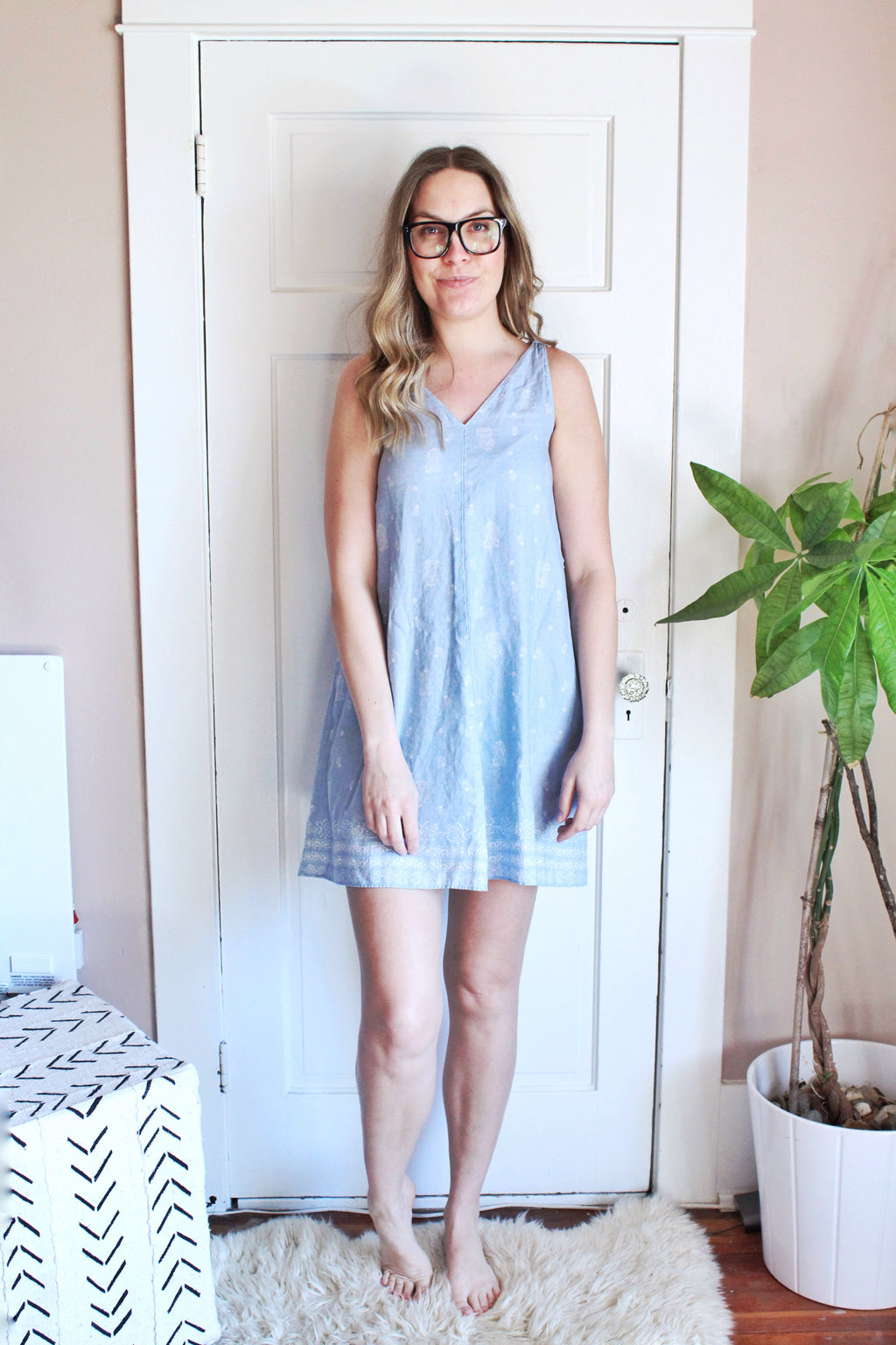elizabeth o. vintage - Paisley Chambray Dress