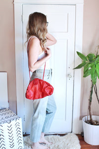 elizabeth o. vintage - Red Leather Crossbody Purse