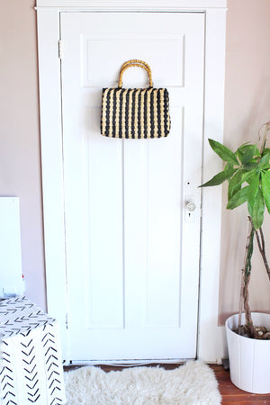 elizabeth o. vintage - Striped Woven Purse