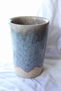 Icy Blue Pottery Vase