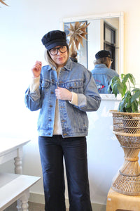 Light Blue Lee Denim Jacket with Seattle Emboidery