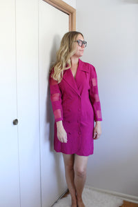 elizabeth o. vintage - Magenta Double Breasted Dress