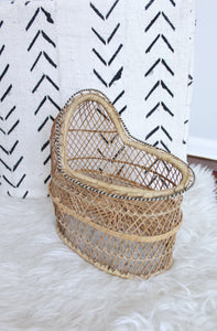 Mini Wicker Baby Bassinet - elizabeth o. vintage