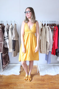 elizabeth o. vintage - Mustard Yellow Dress